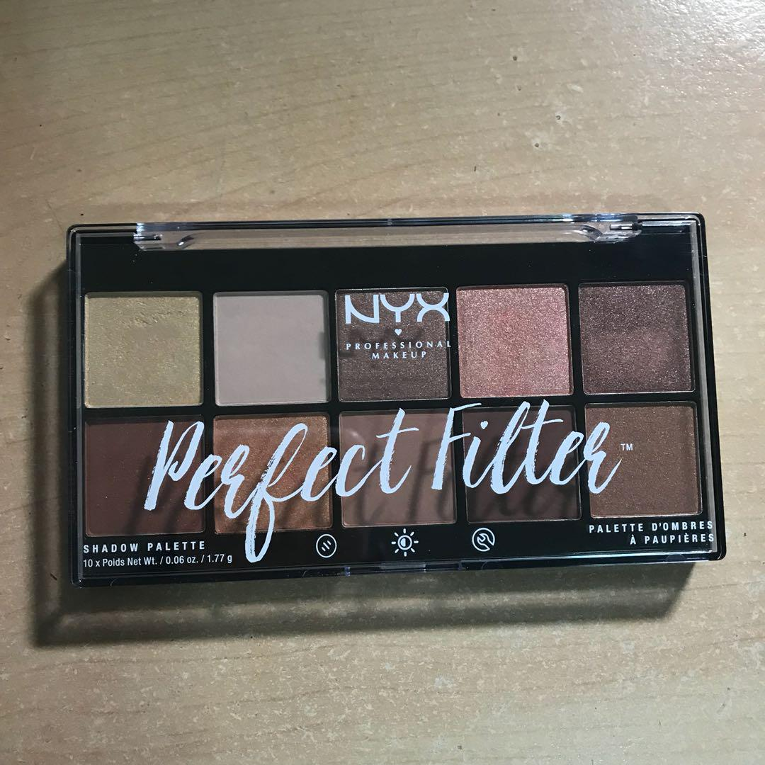 Nyx Perfect Filter Eyeshadow Palette in Golden Hour, Health