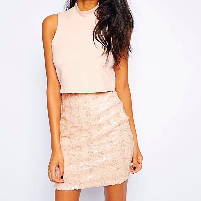 78a8b581 Pink Sequin Dress from ASOS, Women's Fashion, Clothes, Dresses ...