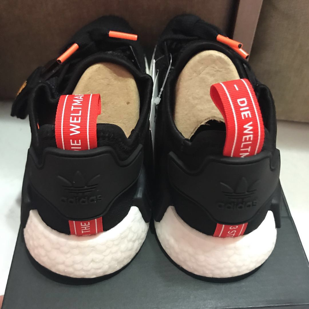 7d1d5ad57d5b8 PO Arrival Adidas Originals NMD R1 B37621 Black   Solar Orange ...