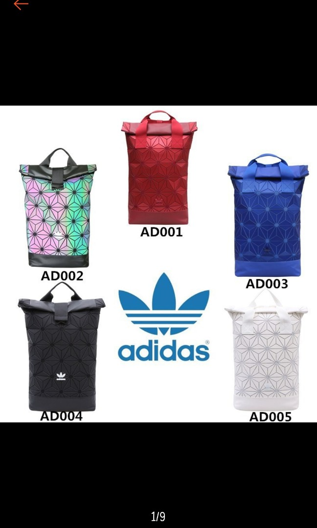 6ef91e5d0bc8 Po)Authentic Adidas 3D Mesh Roll Top Issey Miyake Bakcpack