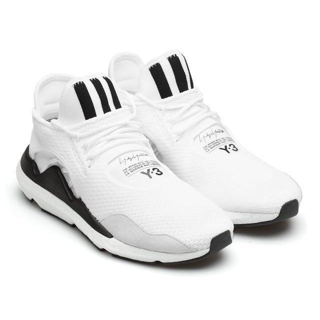 Mens Adidas Y3 Saikou White White Black Boost Uk Size 8
