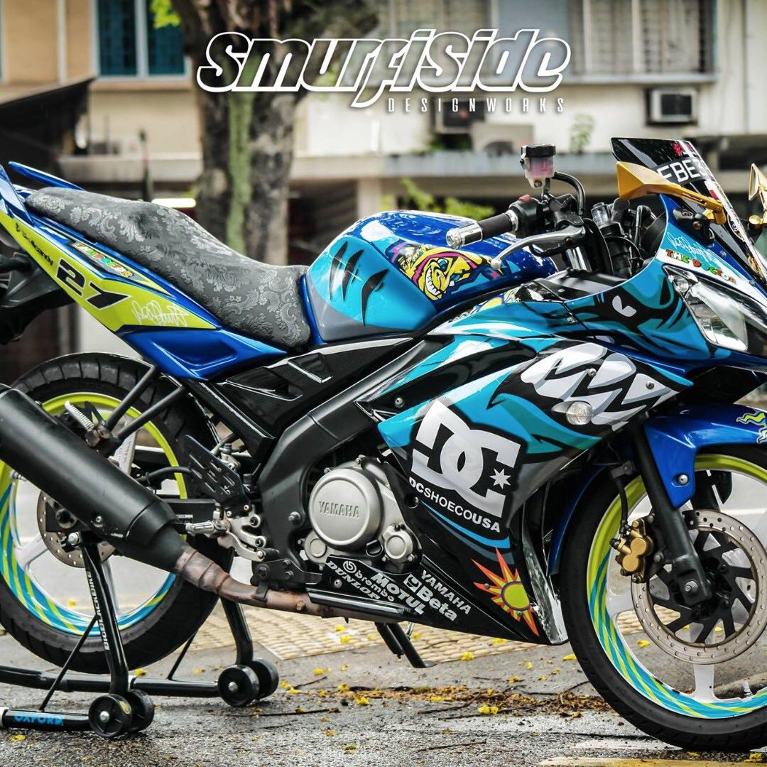 R15 shark customised full body decal motorbikes motorbike accessories on carousell kyt design yamaha sniper