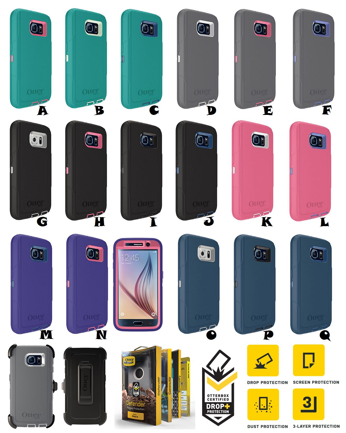 sneakers for cheap b4a66 d4bcf Samsung Galaxy S7 Edge OTTERBOX DEFENDER SERIES Case Cover