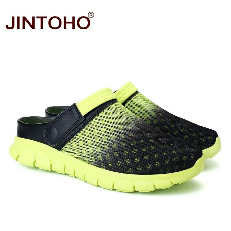 a6a4eb69d773 Summer Men Sandals Breathable Mesh Male Sandal Summer Beach Men Shoes Water  Male Slippers Fashion Slides Shoes