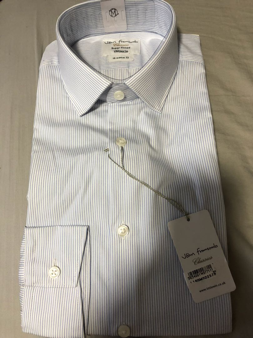 bf8c48e4 TM Lewin Super Fitted Shirt, Men's Fashion, Clothes, Tops on Carousell