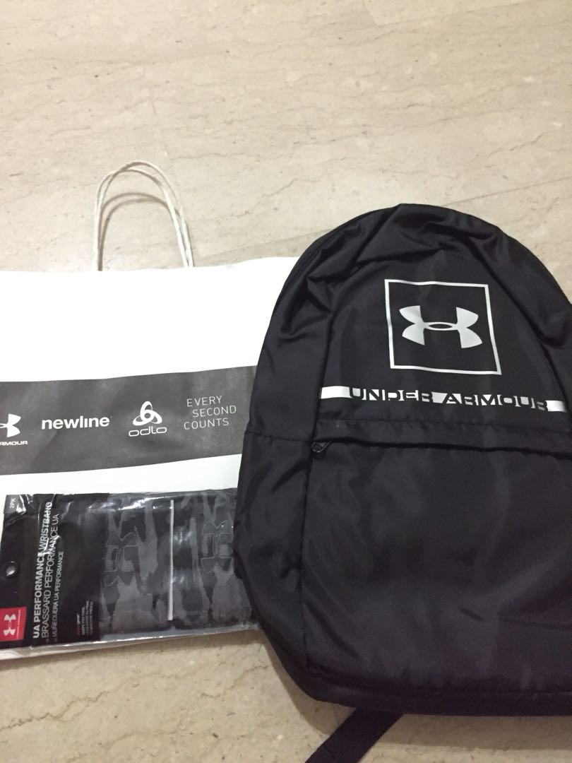7fa2afa93a Under armour bag pack and wristband