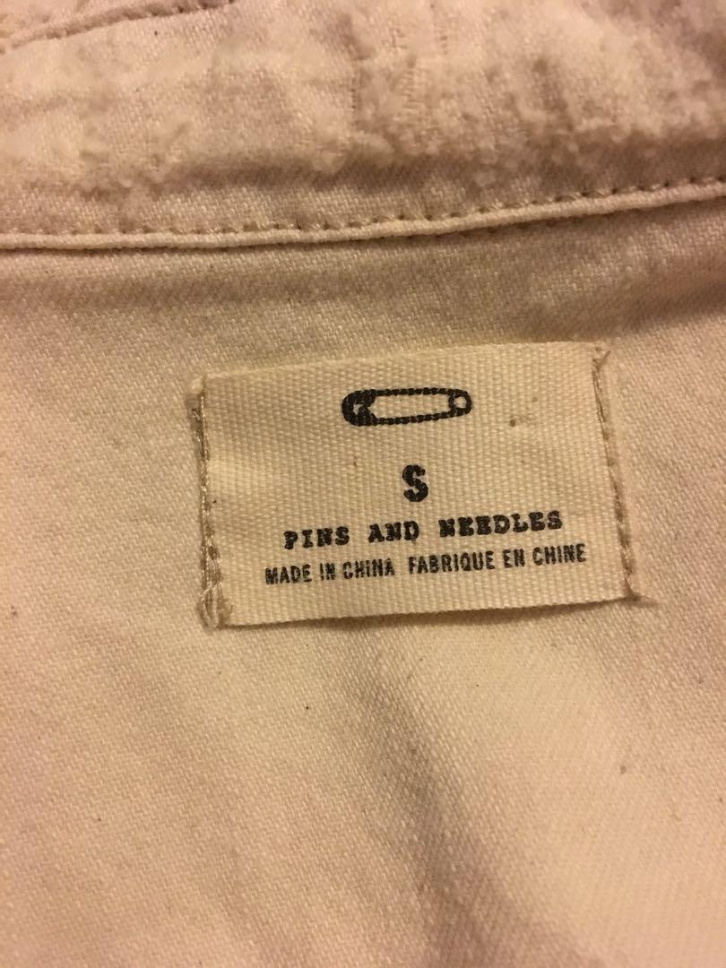 Urban outfitters pins and needles white denim shirt