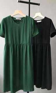 Black babydoll dress
