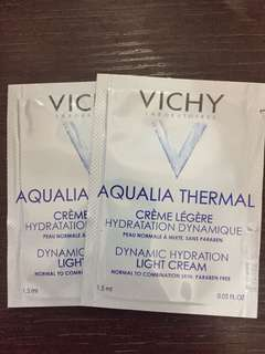 Vichy Aqualia Thermal Light Cream x 2pcs