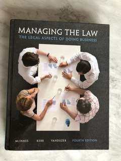 Managing the Law the Legal Aspects of Doing Business