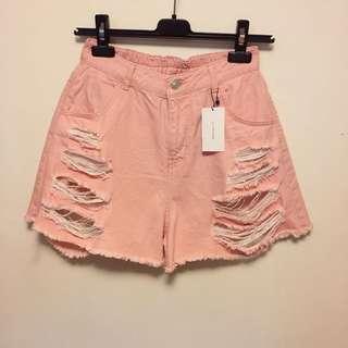 Japan Pink denim shorts