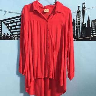Blose merah top mermaid top