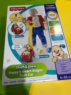 Fisher Price puppy's smart stages push car