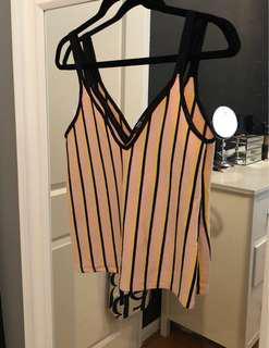 Zara Deep V Knit Tank SMALL