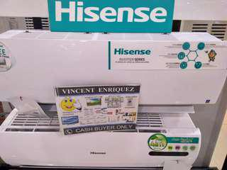 hisense 1hp INVERTER split type aircon also available in 1.5hp 2hp 2.5hp