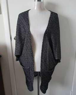 Black/Grey Batwing Blazer