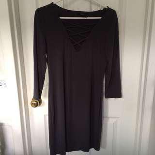 Grey Dress Size L