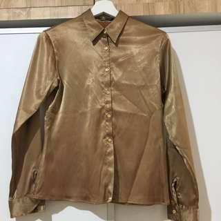 Vintage Brown Silky Top #Merdeka73