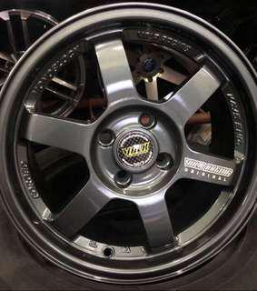 """•Mags 15"""" TE37 4x100 4x114 •with 195/55x15 or 195/50x15 NANKANG TIRES •BRANDNEW"""