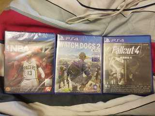 PS4 GAME WATCH DOG2 NBA 2k17 Fallout4