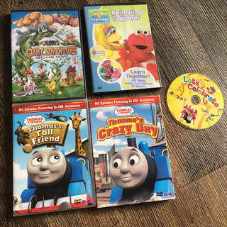 Toddlers Favorite Shows on DVD Bundle (5 dvds) Thomas, Tom & Jerry, Hi-5