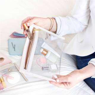 BN TRUFFLE Clarity Clutch Small - Cream/Gold