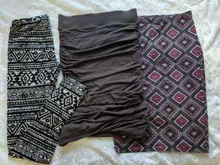 Leggings and skirts