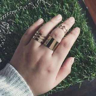"""""""Freyja"""" 3 Piece Boho Rings"""