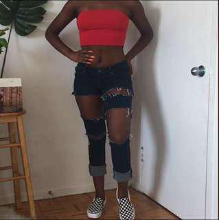 Hollister Low Rise Ripped Denim Jeggings
