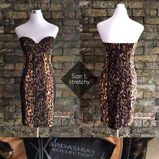Kardashian Kollection Leopard print bustier dress