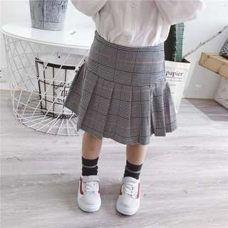 Brand new baby girl checked pleated skirt fit 110