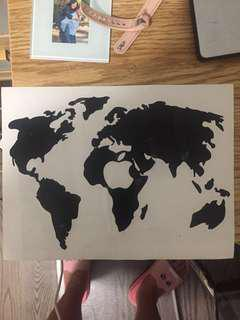 Macbook world map sticker