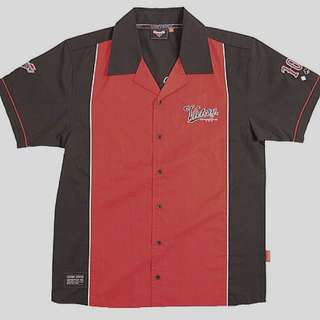 VICTORY MOTORCYCLES 電單車車隊衫   BLACK/RED BY VICTORY MOTORCYCLE RACE SHIRT SHORT SLEEVE MENS