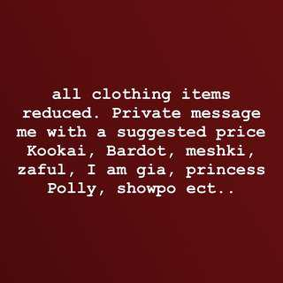 Reduced prices