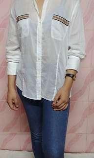 Burberry london cotton button down shirt