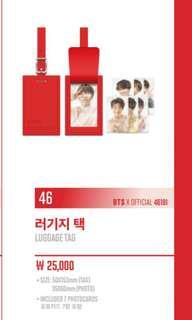 BTS LY MERCH : LUGGAGE TAG