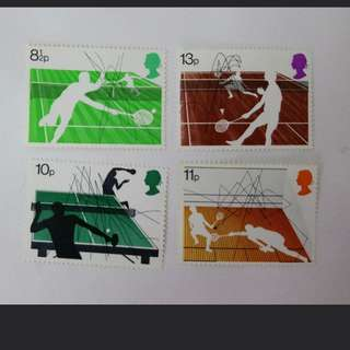 Royal mail Racket sports stamps