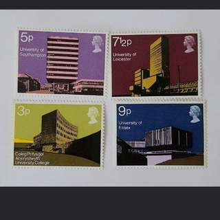 Royal mail Modern University building stamps