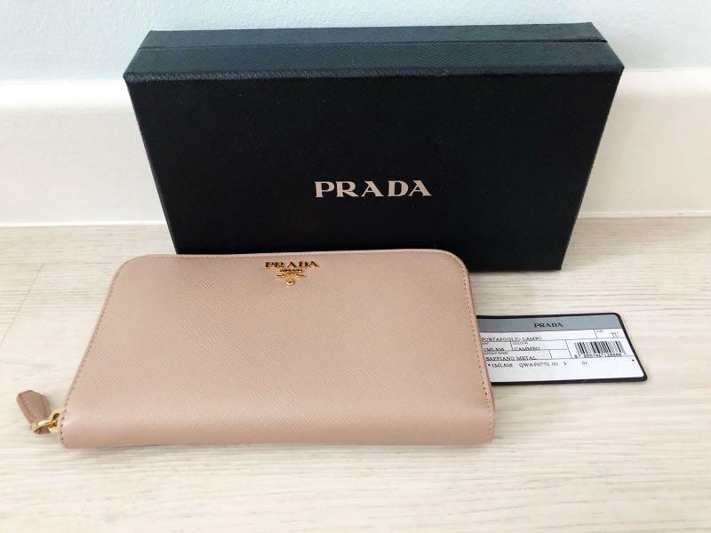 b1ff9cbf7d35 100% Authentic Prada Portafoglio Lampo Long Wallet, Women's Fashion ...