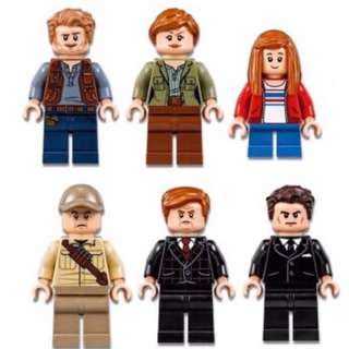 Lego Jurassic World Fallen Kingdom Minifigures Bundle