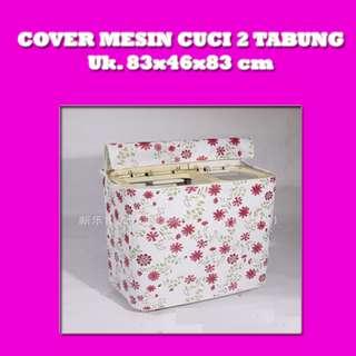 Cover Penutup Mesin Cuci Dua Tabung