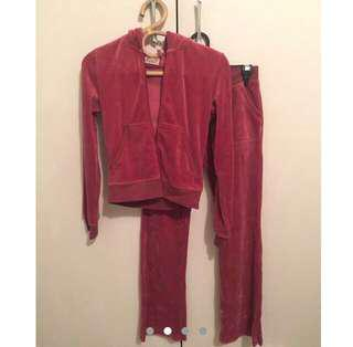 Juicy couture matching velvet tracksuit set