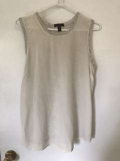 J. Crew sleeveless medium Silk Top