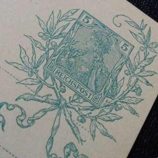 [lapyip1230] 德意志帝國 1900年 日耳曼尼亞女神 世紀紀念郵資明信片 新片