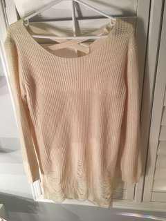 White Knit Sweater Dress
