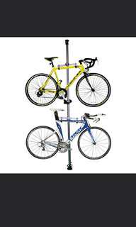 Bicycle ceiling stand and rack