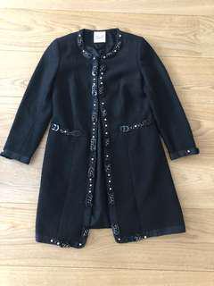 Black wool jacket (Chanel style)