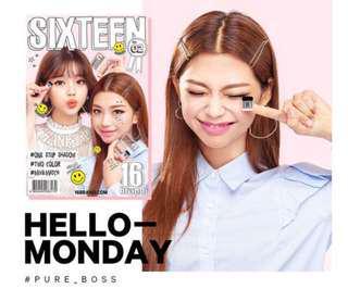 READY STOCKS | 16brand Eye Magazine Eyeshadow #2 Hello Monday