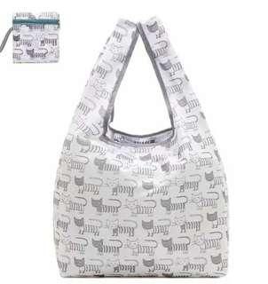 小貓圖案可折疊手提袋 環保袋