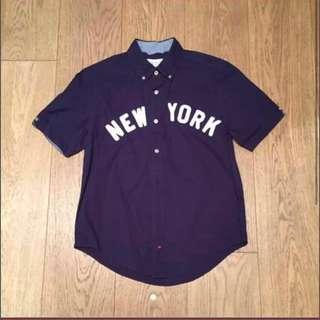 Japan Brand Browny Navy New York Short Sleeves shirt